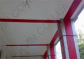 Алюминиевый Реечный потолок дизайн Омега, белый матовый 4м