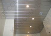 Алюминиевый Реечный потолок дизайн Омега, металлик 4м