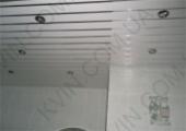 Алюминиевый Реечный потолок Немецкого дизайна, белый матовый 4м